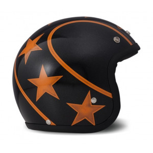 Casque DMD Stunt orange - jet moto vintage