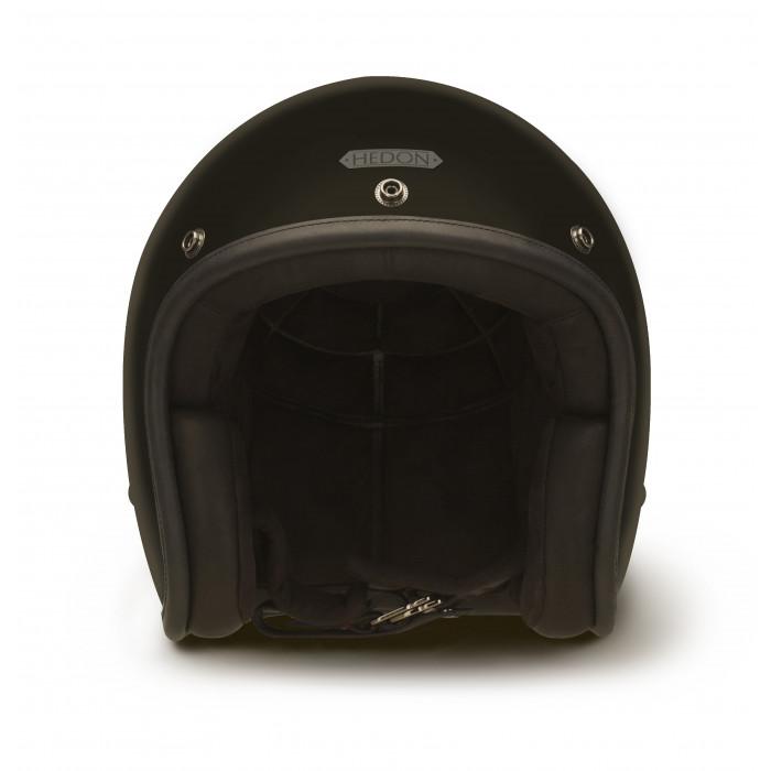 Casque Hedon Coal - Casque moto vintage noir mat