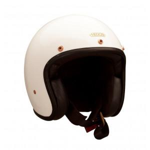 Casque Hedon Signature blanc - Casque moto vintage