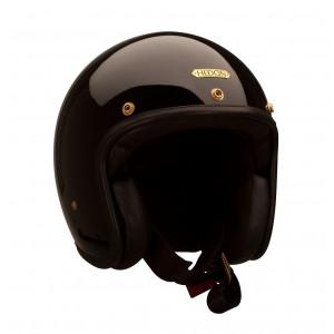 Casque Hedon Signature noir - Casque moto vintage