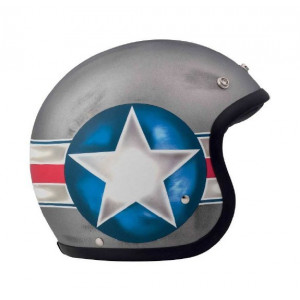 Casque DMD Fighter - Jet moto vintage