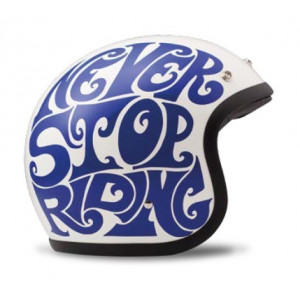 Casque DMD Electric - jet moto vintage
