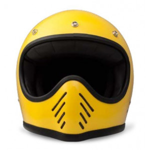 casque Dmd Seventy five 1975 jaune - Integral moto cross vintage
