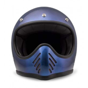 Casque DMD Seventy five 1975 bleu - Integral moto cross vintage