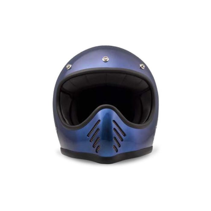 Casque DMD Seventy five 1975 bleu - Integral moto cross vintage