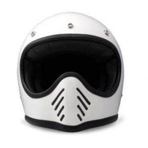 casque DMD 1975 Seventy five blanc - Integral moto cross vintage