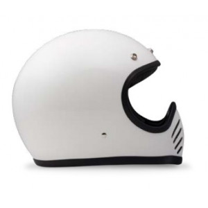casque DMD 75 Seventy five blanc - Integral moto cross vintage 1