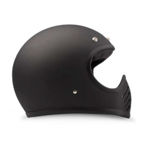 Casque DMD Seventy Five 1975 noir mat - Integral moto cross vintage