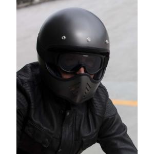 Casque DMD Seventy Five 1975 noir mat - Integral moto cross vintage