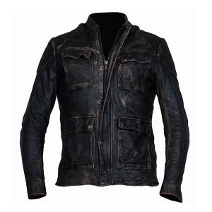 Veste moto cuir DMD Brown scratch vintage