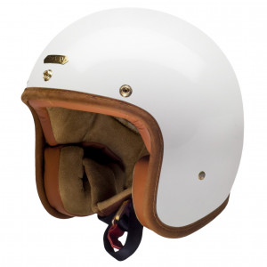 Casque Hedon Hedonist Knight White - Casque moto vintage blanc