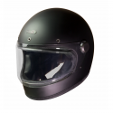 Casque Hedon Heroine COAL noir mat - Intégral moto vintage