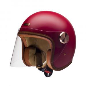 Casque Hedon Epicurist CHERRY rouge mat - Jet moto vintage