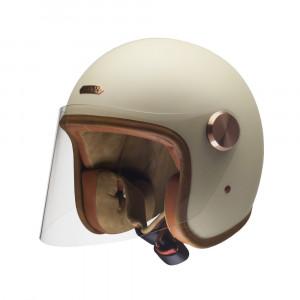 Casque Hedon Epicurist CREME - Jet moto vintage beige mat