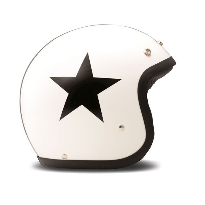 DMD Star blanc - Casque blanc etoile noire
