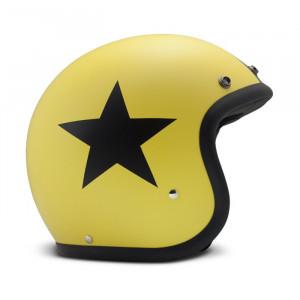 DMD Star Yellow - Casque jaune avec étoile noire