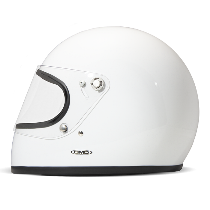DMD rocket white - Casque Integral moto vintage blanc
