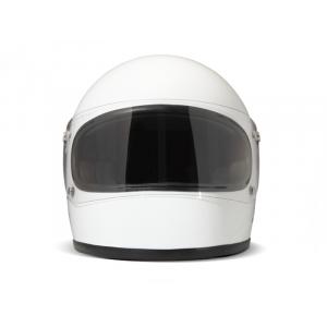 DMD rocket white - Casque Integral moto vintage blanc