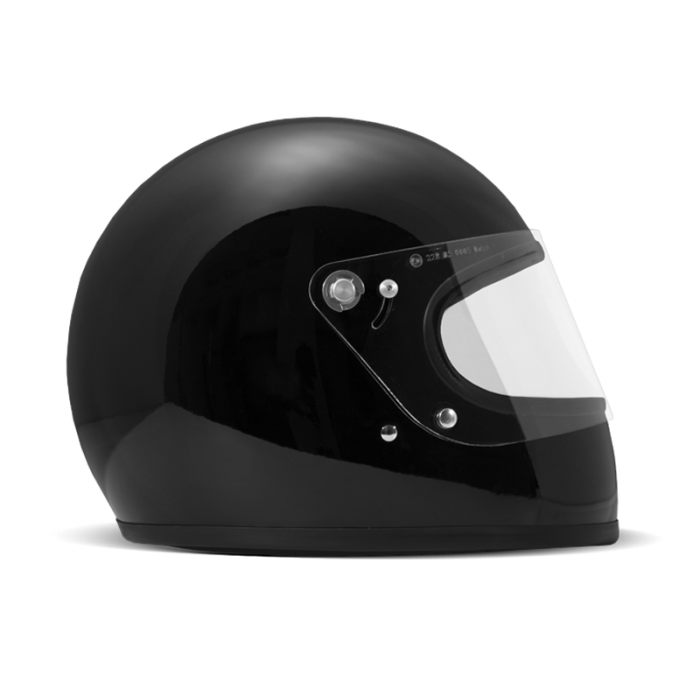 DMD Rocket black - Casque Integral moto vintage noir