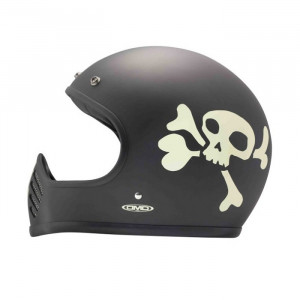 DMD Seventy Five Little Skull - casque moto vintage