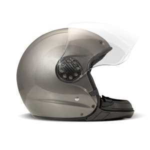 Casque DMD A.S.R Metallic grey moto mudulable 1