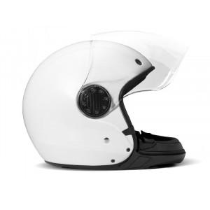 DMD A.S.R pearl white - Casque moto modulable blanc