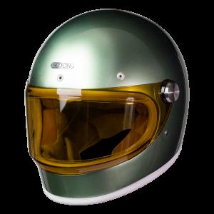 Hedon Heroine RACER METALLIC JAG (avec visière orange en option)