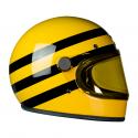 Hedon Heroine RACER BUMBLEBEE - Casque moto vintage (visière jaune en option)