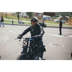 Casque Hedon creme - Casque moto vintage