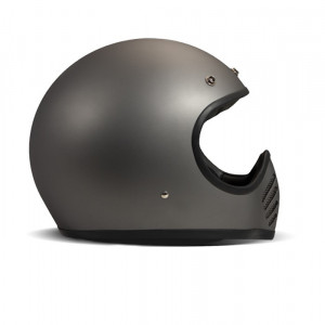 Casque Dmd Seventy five 1975 matt grey Intégral moto cross vintage 1