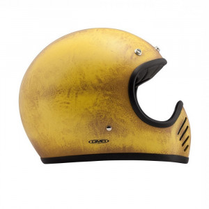 Casque Dmd Seventy five 75 Arrow yellow Intégral moto cross vintage 1