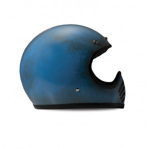 Casque Dmd Seventy five 75 Arrow blue Intégral moto cross vintage 1