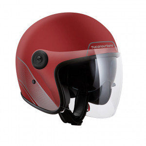 casque tucano urbano eljet 1301 rouge biking red