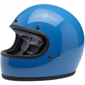 Casque Biltwell Gringo bleu gloss tahoe blue