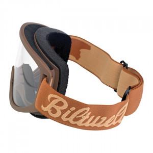 Lunettes marrons de casque Biltwell
