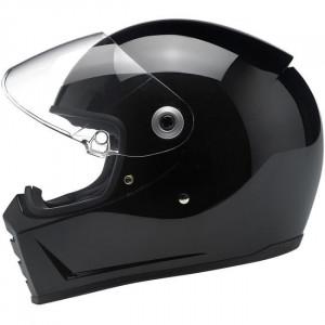 casque Biltwell Splitter noir gloss black