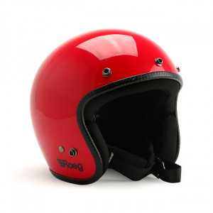 Casque Roeg Jett Flaming red Gloss Rouge