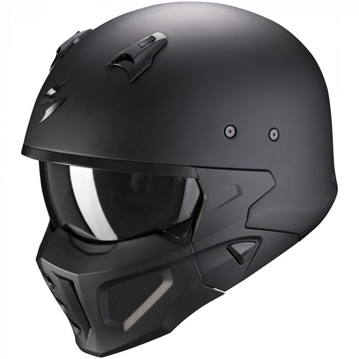 Casque Scorpion Covert-X Solid noir mat