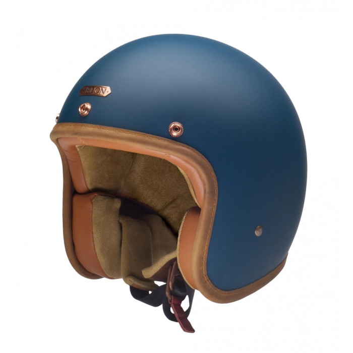 Casque Hedon Teal bleu petrol moto vintage