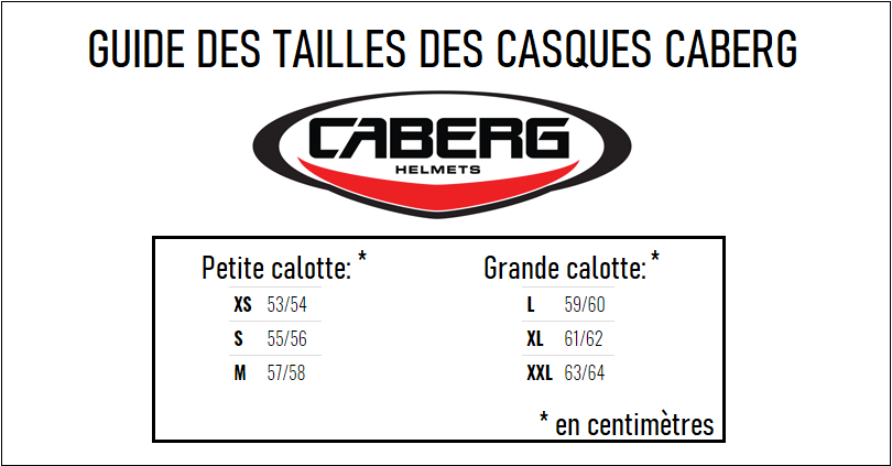 Guide taille casque Caberg