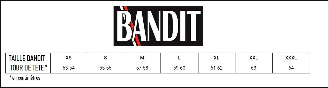 Guide des tailles Bandit helmets