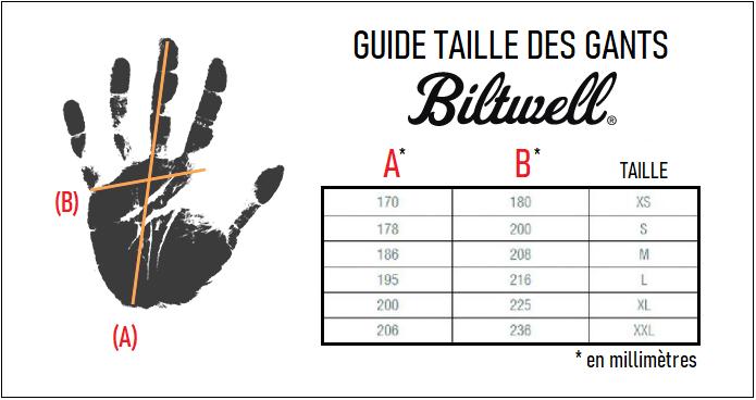 Guide taille gants biltwell