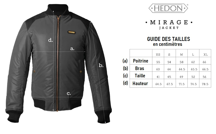 guide taille hedon mirage